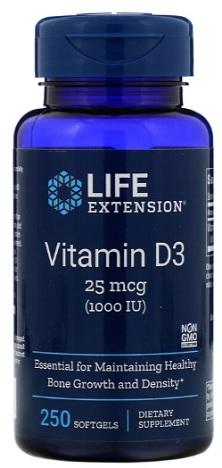 วิตามินดี3 Vitamin D3, 25 mcg (1,000 IU)
