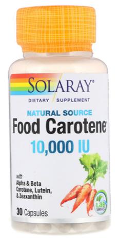 เบต้าแคโรทีน, Food Carotene