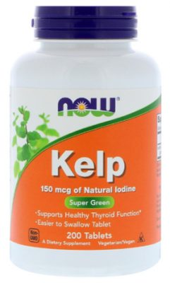 ไอโอดีน จากเคลป์สาหร่ายสีน้ำตาล, Kelp Iodine
