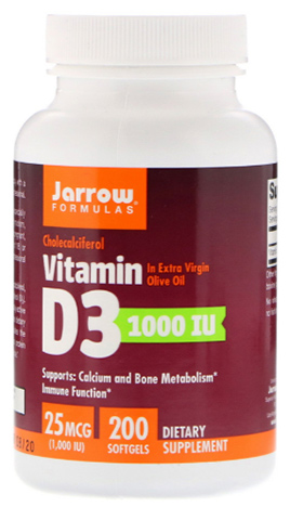 วิตามินดี3, Jarrow Vitamin D3 1000 IU