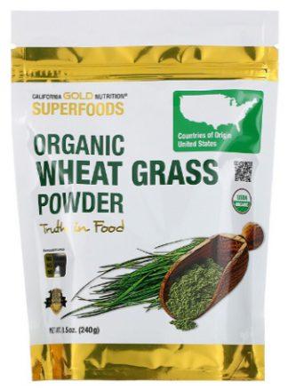 ต้นอ่อนข้าวสาลี, Organic Wheat Grass Powder