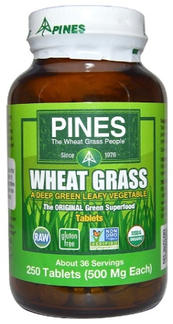 ต้นอ่อนข้าวสาลี, Organic Wheat Grass Tablets