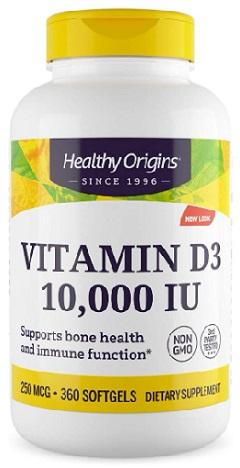 วิตามินดี3, Vitamin D3, 10000IU 360sg.