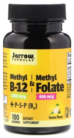 เมทิล โฟเลต&วิตามินบี12, Methyl B-12 & Methyl Folate, Lemon Flavor