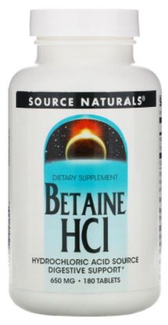 บีเทน ไฮโดรคลอไรด์, Betaine HCL 650mg