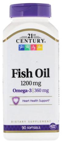 น้ำมันปลา, Fish Oil, 1,200 mg