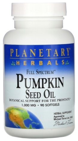 น้ำมันเมล็ดฟักทอง, Planetary Herbals Pumpkin Seed Oil